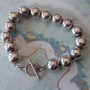 Jewelry - Sterling silver ball bracelet 10mm